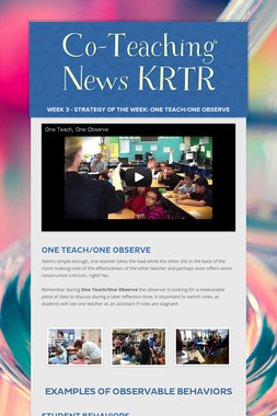 Co-Teaching News KRTR