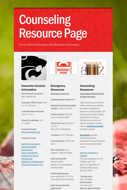 Counseling Resource Page
