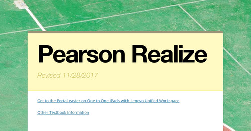 Pearson Realize | Smore Newsletters
