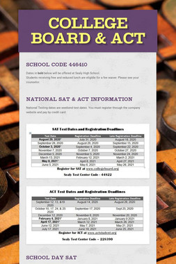 College Board & ACT