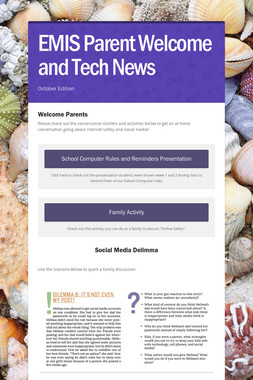 EMIS Parent Welcome and Tech News