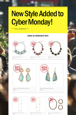 New Style Added to Cyber Monday!