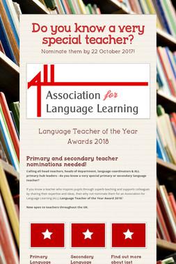 Do you know a very special teacher?