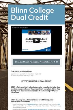 Blinn College Dual Credit