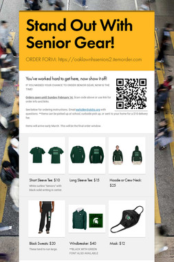 Stand Out With Senior Gear!