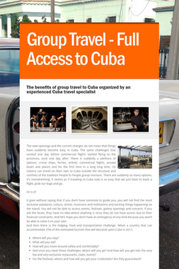 Group Travel - Full Access to Cuba