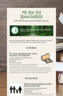 PD for Ed Specialists