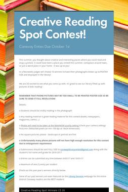 Creative Reading Spot Contest!