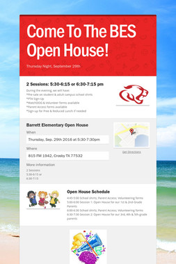 Come To The BES Open House!
