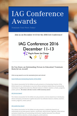 IAG Conference Awards