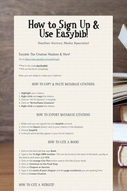 How to Sign Up & Use Easybib!