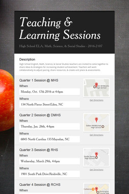Teaching & Learning Sessions