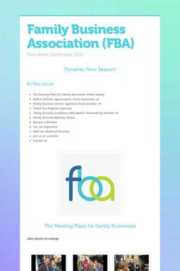 Family Business Association (FBA)