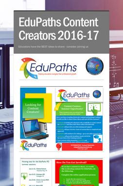 EduPaths Content Creators 2016-17