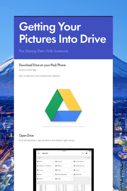 Getting Your Pictures Into Drive