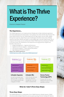 What is The Thrive Experience?