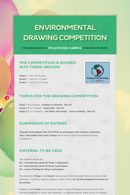 Environmental Drawing Competition