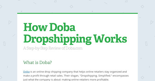 How Doba Dropshipping Works | Smore Newsletters