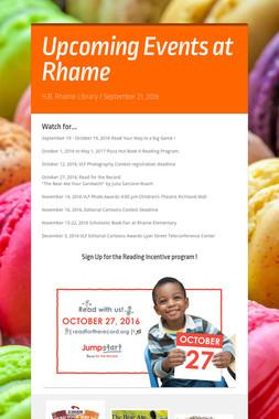 Upcoming  Events at Rhame