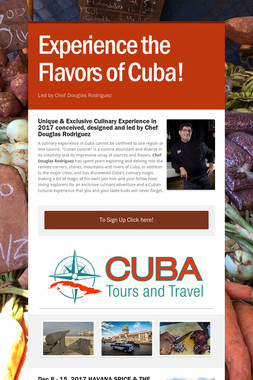 Experience the Flavors of Cuba!