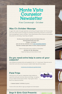 Monte Vista Counselor Newsletter