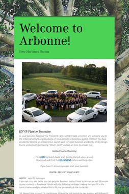 Welcome to Arbonne!