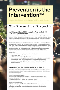 Prevention is the Intervention™