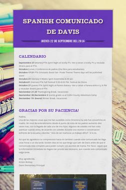 Spanish  Comunicado  de  Davis