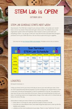 STEM Lab is OPEN!