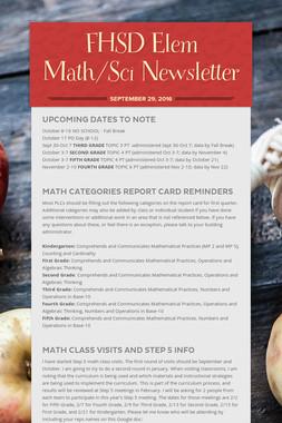 FHSD Elem Math/Sci Newsletter