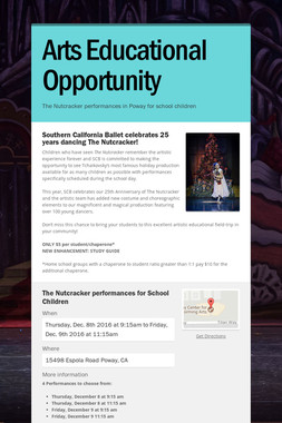 Arts Educational Opportunity