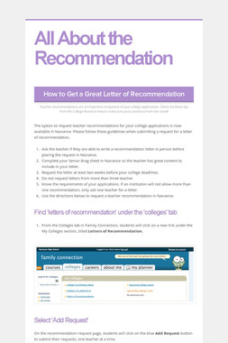 All About the Recommendation
