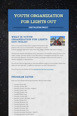 Youth Organization for Lights Out