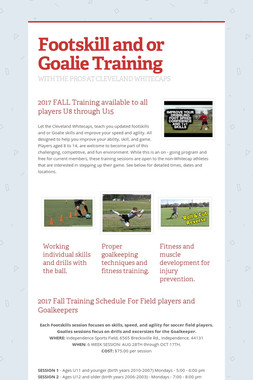 Footskill and or Goalie Training