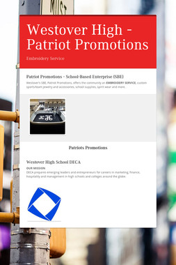 Westover High - Patriot Promotions