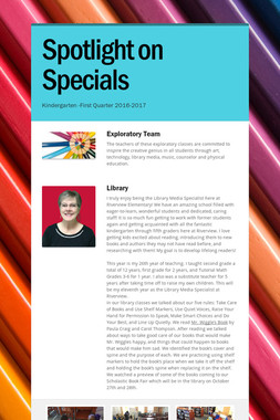 Spotlight on Specials