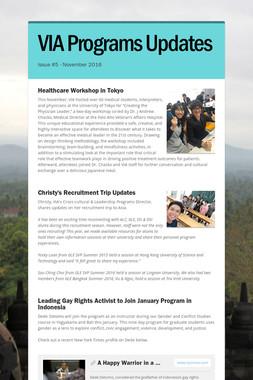 VIA Programs Updates