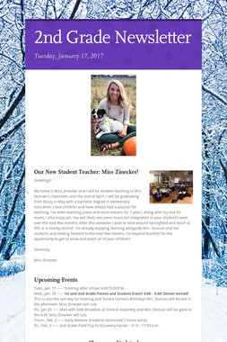 2nd Grade Newsletter
