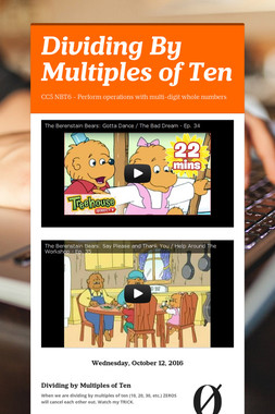 Dividing By Multiples of Ten