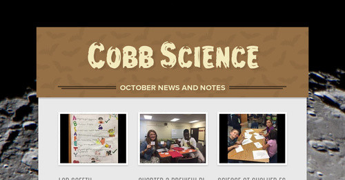 Cobb Science | Smore Newsletters for Education