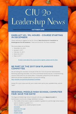 CIU 20 Leadership News