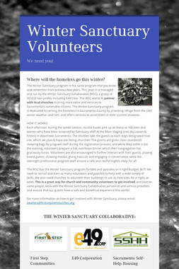 Winter Sanctuary Volunteers