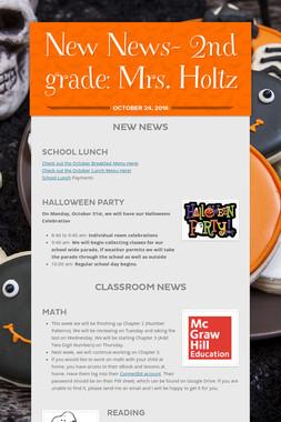 New News- 2nd grade: Mrs. Holtz