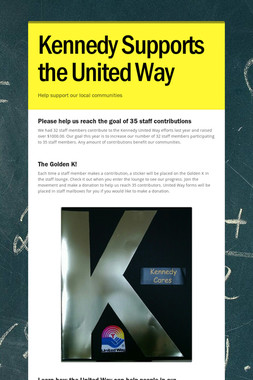 Kennedy Supports the United Way