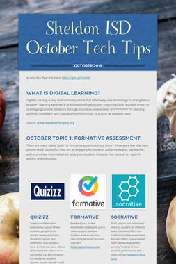 Sheldon ISD October Tech Tips