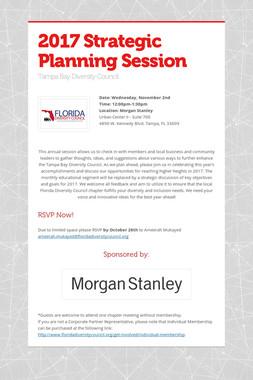 2017 Strategic Planning Session