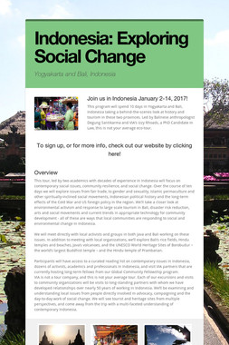 Indonesia: Exploring Social Change