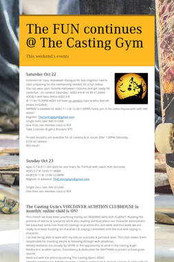 The FUN continues @ The Casting Gym