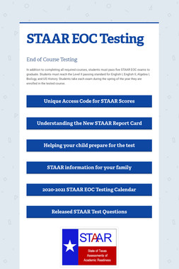 STAAR EOC Testing