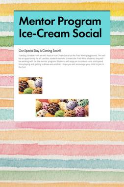 Mentor Program Ice-Cream Social